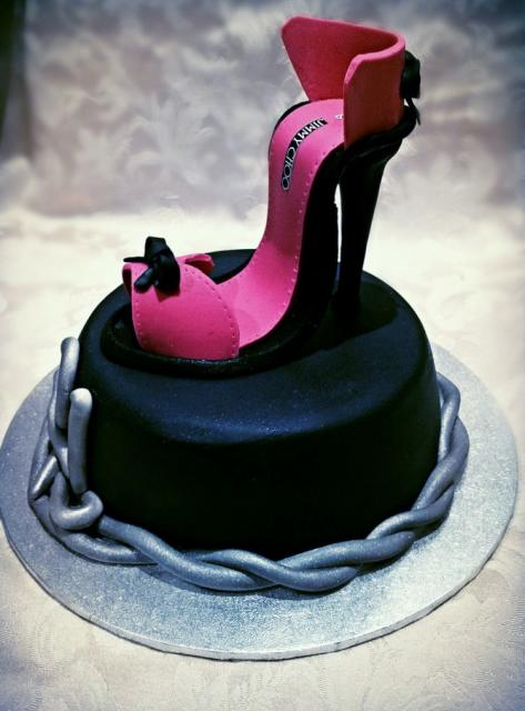 Pink Amp Black High Heel Shoes Cake Jpg Hi Res 720p Hd