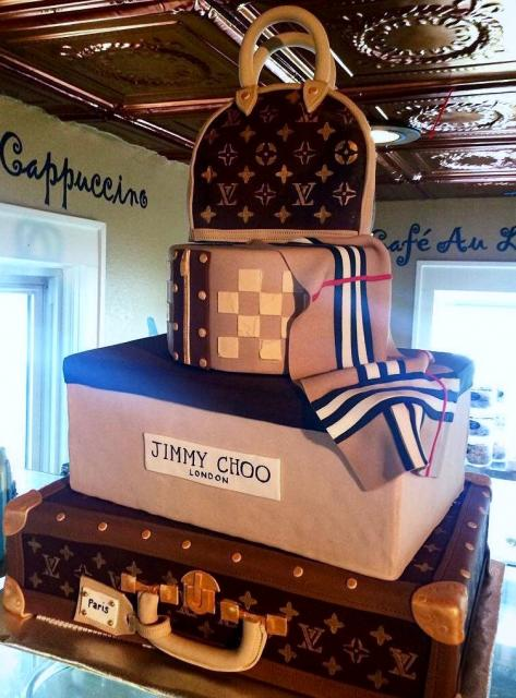 Louis Vuitton 4 Tier Handbag Amp Suitcase Cake For Women Jpg