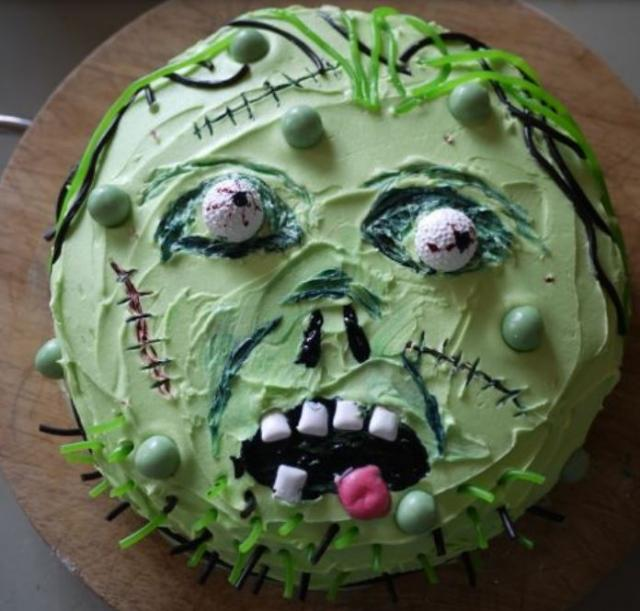 Homemade Zombie Birthday Cake Pictures JPG
