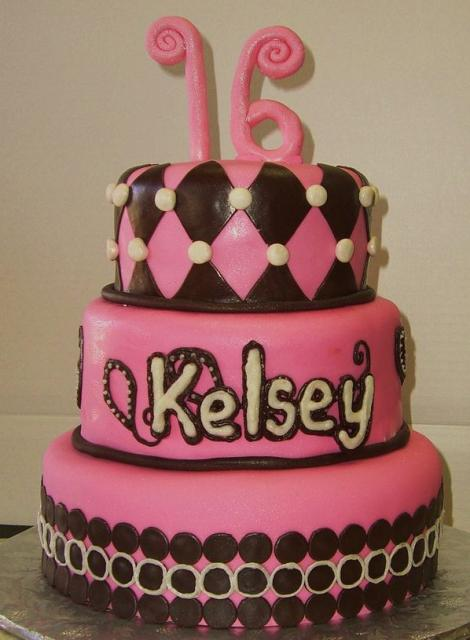 Pink 3 Tier Sweet 16 Birthday CakeJPG 3 Comments