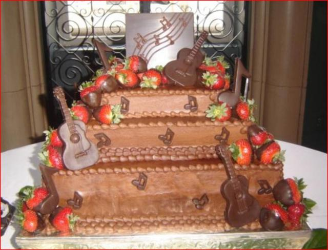 Fancy Three Tier Square Groom S Cake With Chocolate