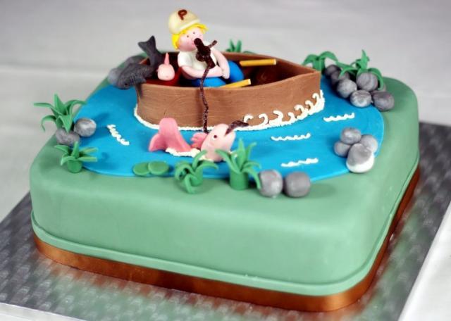 Man On Boat Fishing Cake Jpg Hi Res 720p Hd
