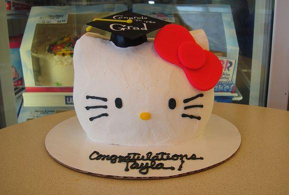 Hello Kitty Ice Cream Graduation Cake From Baskin Robbins