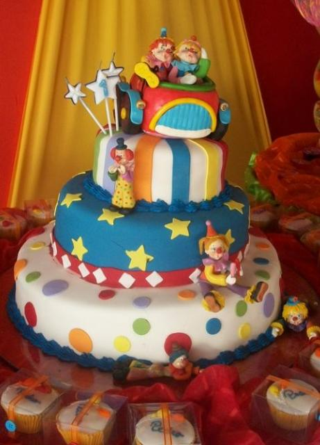 Four Tier Circus And Clown Theme Cake Jpg 1 Comment