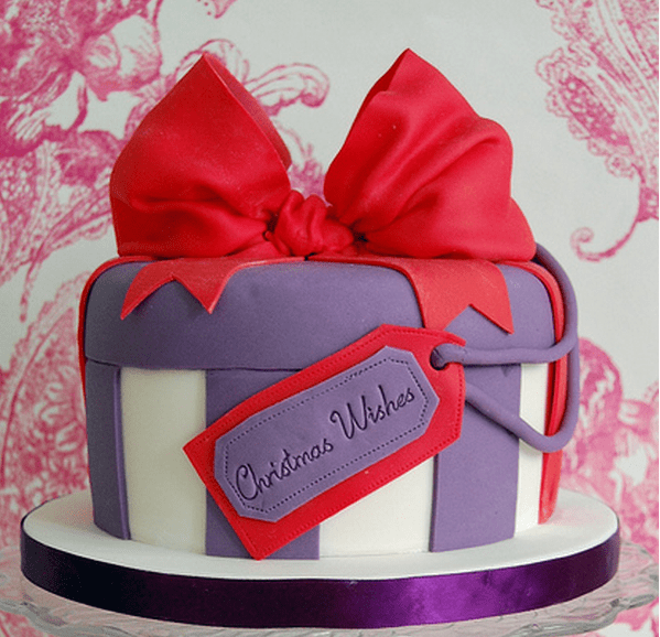 Stylish Christmas Cake With A Gift Box ShapePNG 1 Comment
