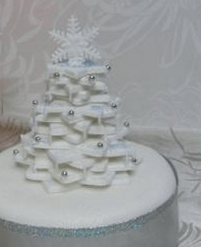 White Holiday Tree Cake PhotoPNG 1 Comment