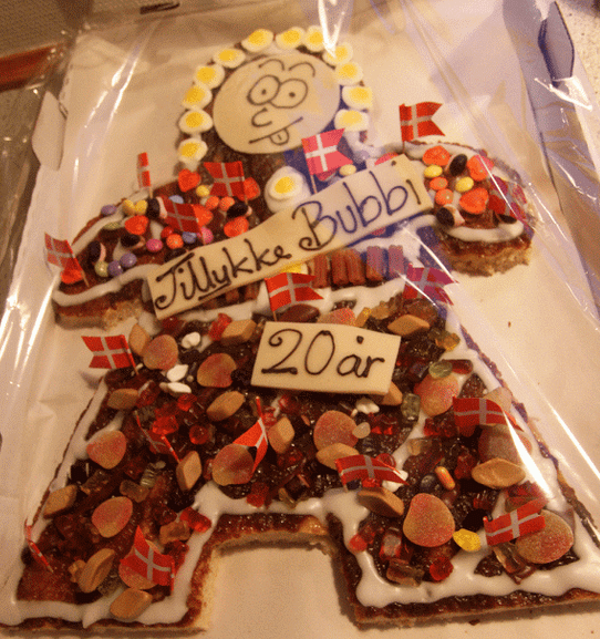 Happy Naughty Looking Danish Kagemand With Full Of Candy