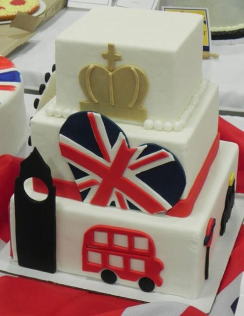 3 Tier British Uk Theme Square Cake Jpg 1 Comment