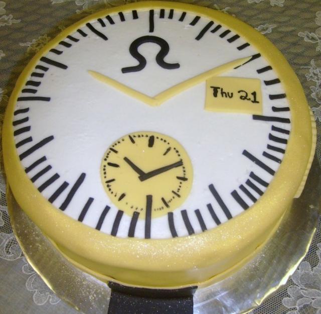 Omega Clock Birthday Cake Jpg Hi Res 720p Hd