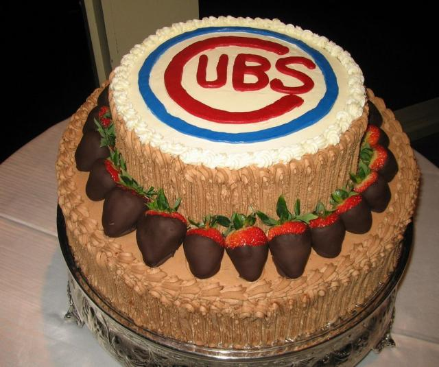 Chicago Cubs Chocolate Groom's Cake JPG Hi Res 720p HD