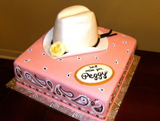 Cowboy Hat Retirement Cakevery Cool Retirement Cake In Pinkjpg 2