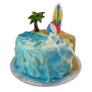 Sand Beach Sports Cake