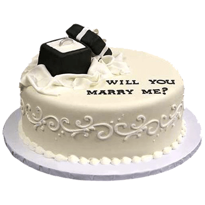 Our Engagement Cake