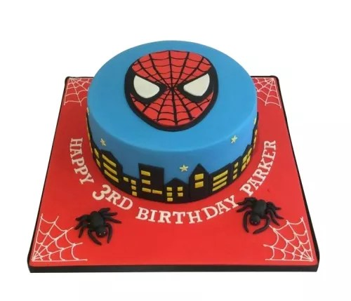 City Night Masked Spiderman Cake