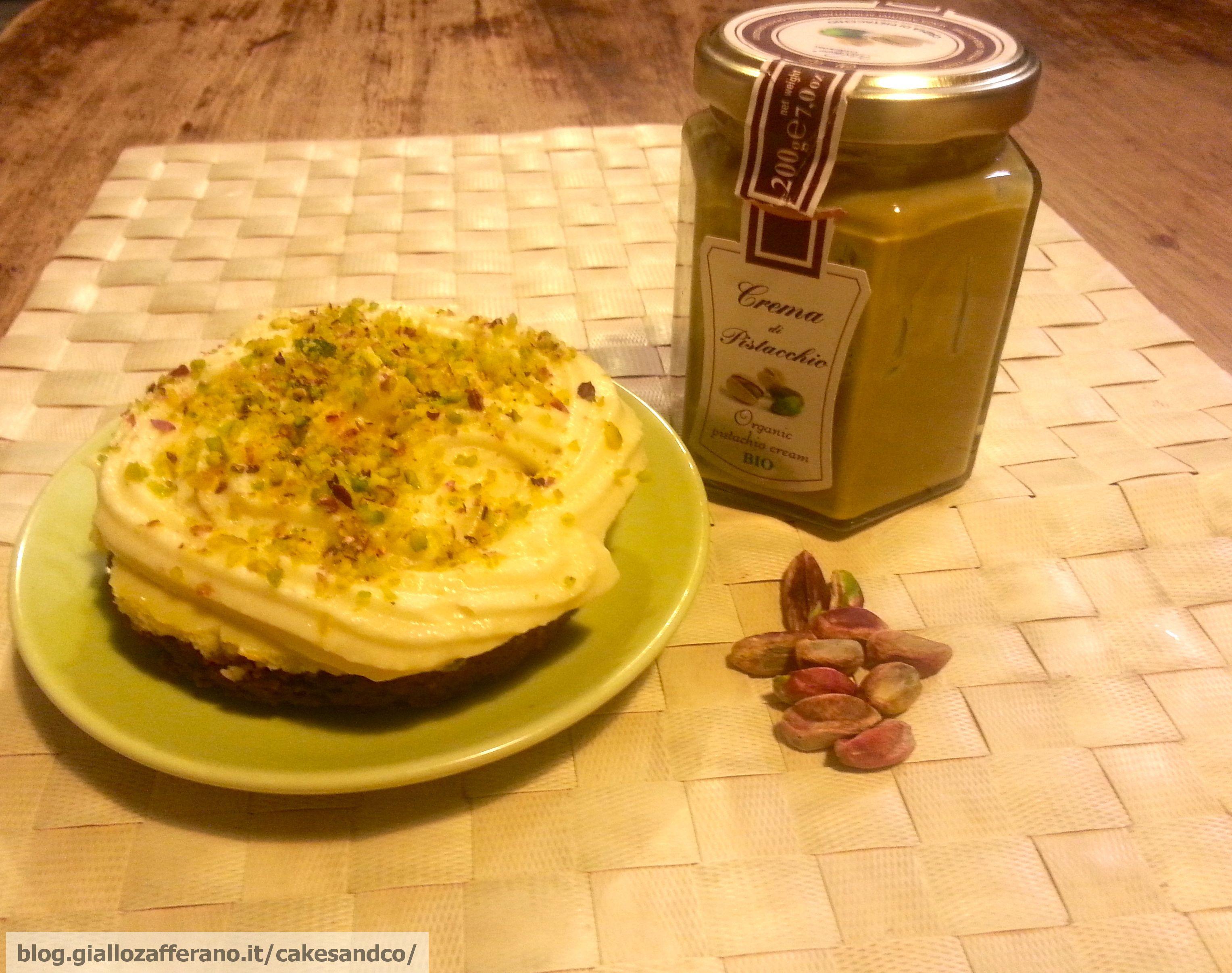 Mini cheesecake al pistacchio e cioccolato bianco