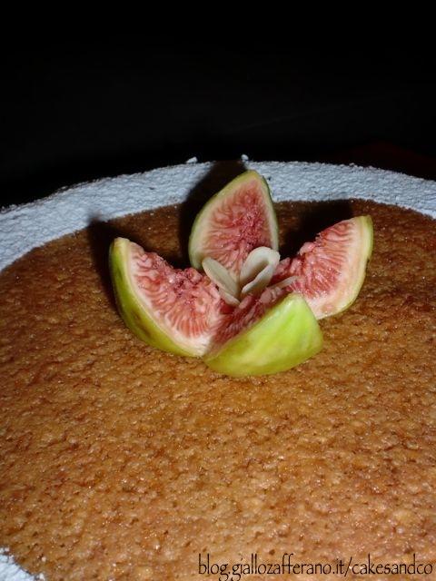 Torta frangipane fichi e cioccolato