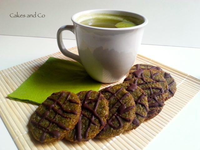 Biscotti quinoa e tè matcha