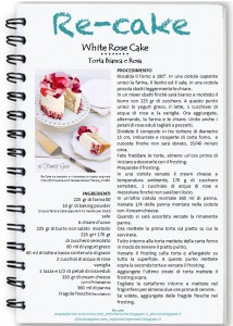 locandina re-cake maggio white rose cake