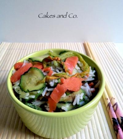 Basmati salmone e zucchine