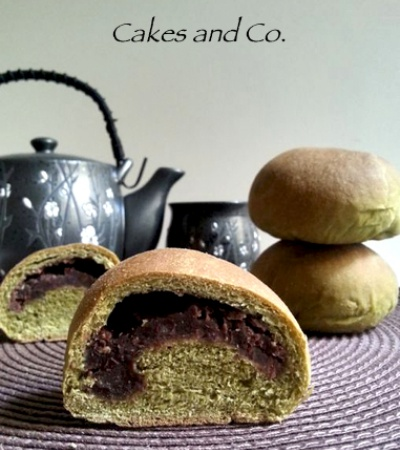Panini al té matcha e marmellata di azuki