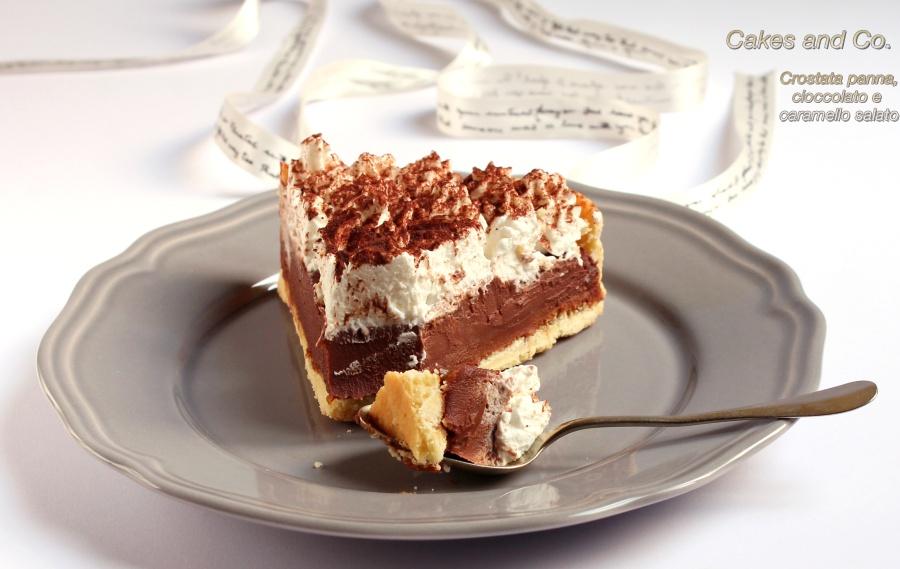 Crostata panna, cioccolato e caramello salato