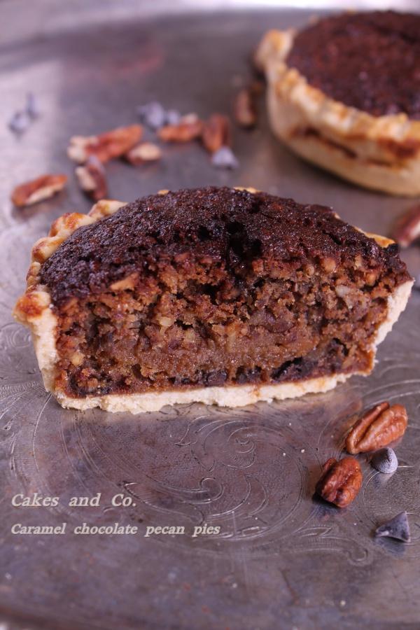 caramel chocolate pecan piesIMG_0059