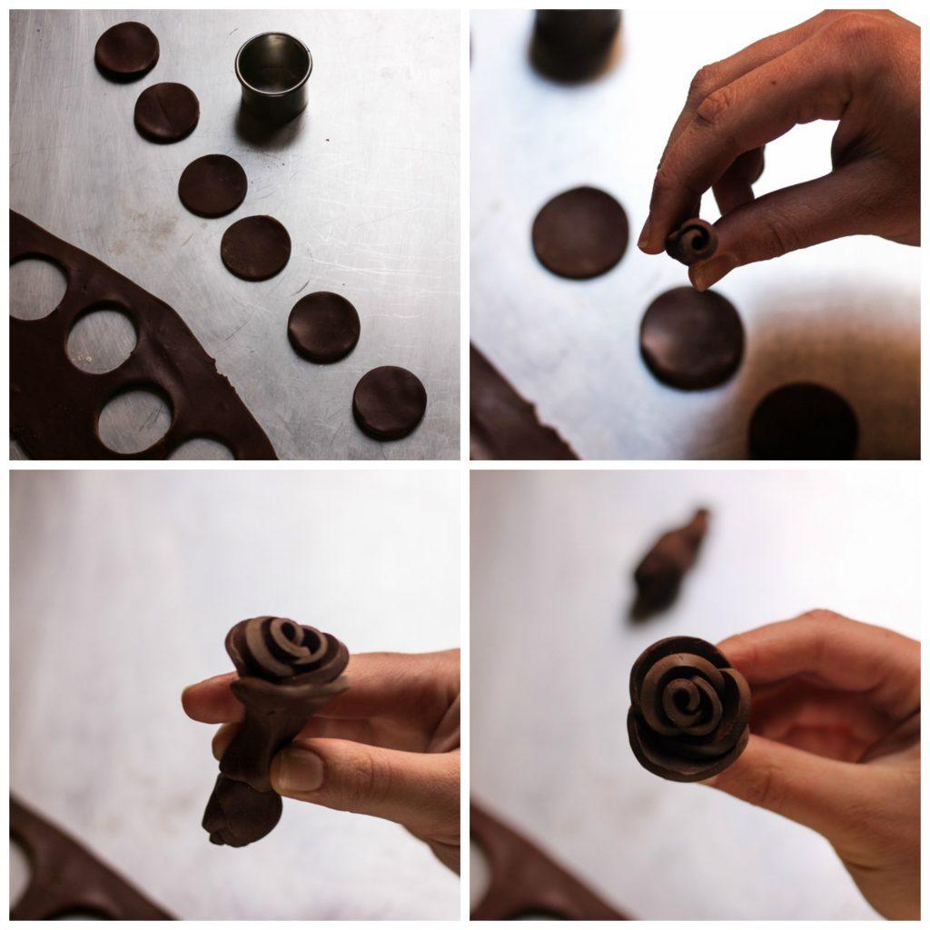 Il cioccolato plastico l'alternativa alla pasta di zucchero, creazione rose tipo 1