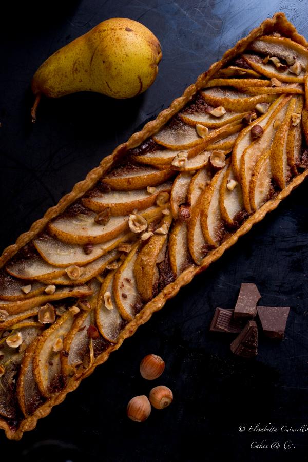 Tarte pere nocciole e cioccolato una torta dai colori e dai sapori e autunnali