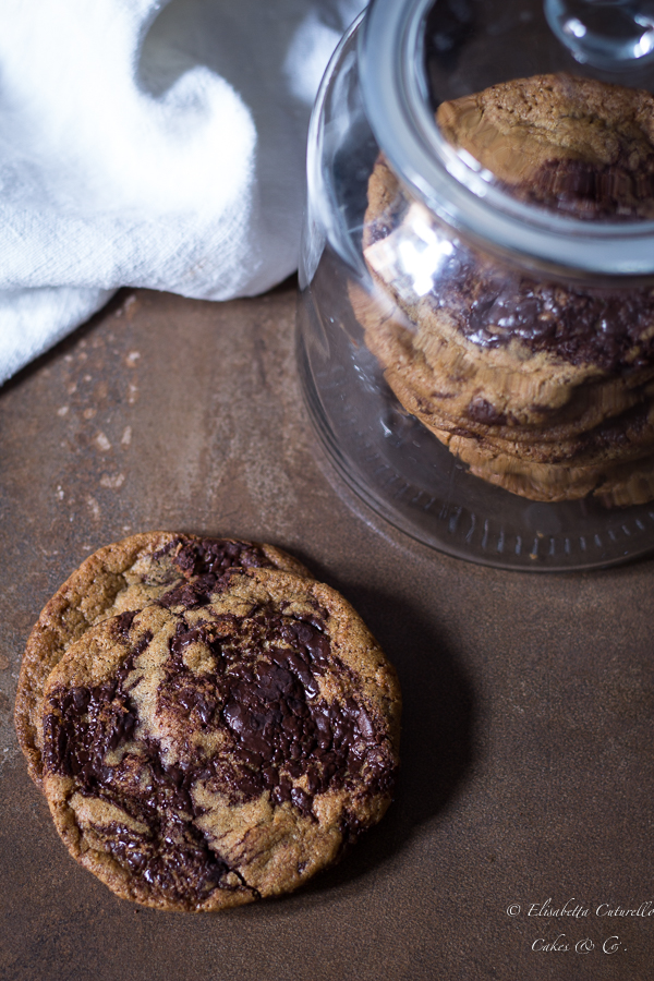 Biscotti al cioccolato caramellati Caramelized Chocolate Chip Cookies
