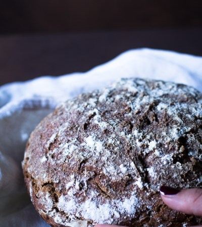 Il pane tutto segale con pasta madre