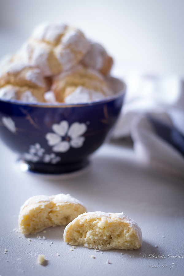 Biscotti al limone - Lemon crinkle cookies