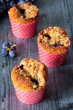 Muffins mascarpone uva fragola e noci