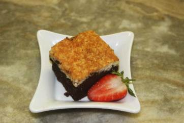 Desert with strawberry and cake