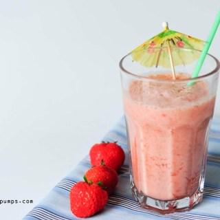 aardbeien colada smoothie