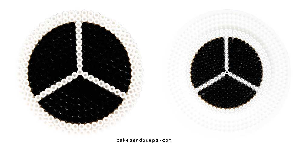 Coaster6, made of hama ironing beads