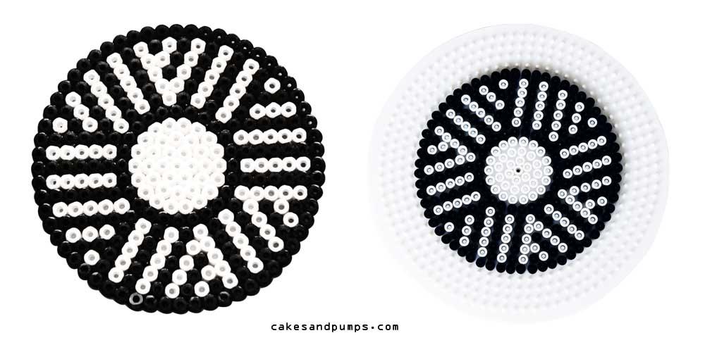 Coaster9, made of hama beads