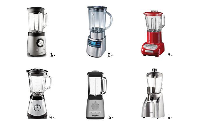Blender selectie om lekkere smoothies en andere mixen mee te maken