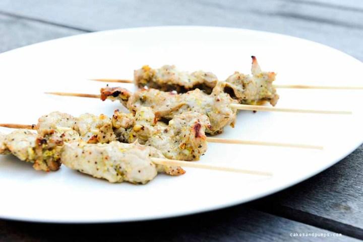 Pork Tenderloin skewers, barbecued