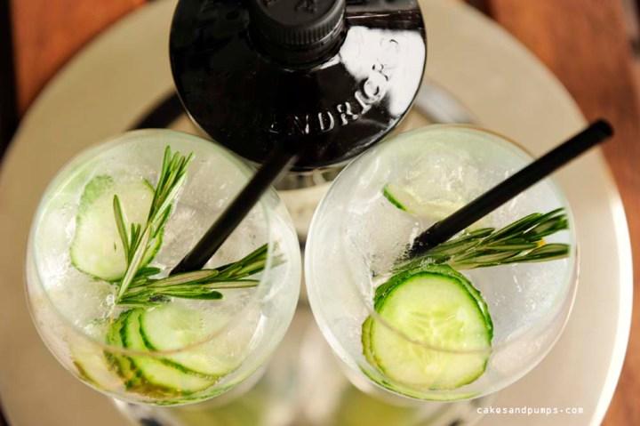 Gin Tonic closeup met Hendricks gin