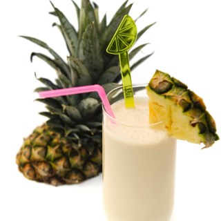 a Pina Colada with rum, pineapple and coconut