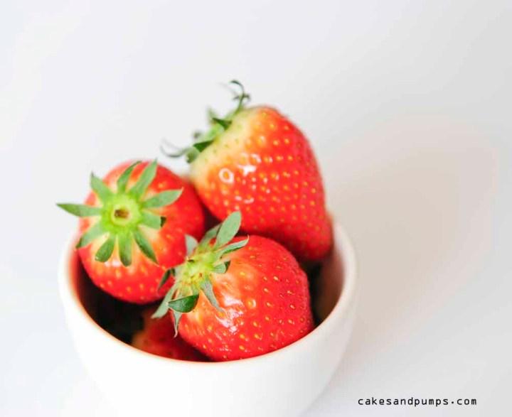 Aardbeien voor een smoothie