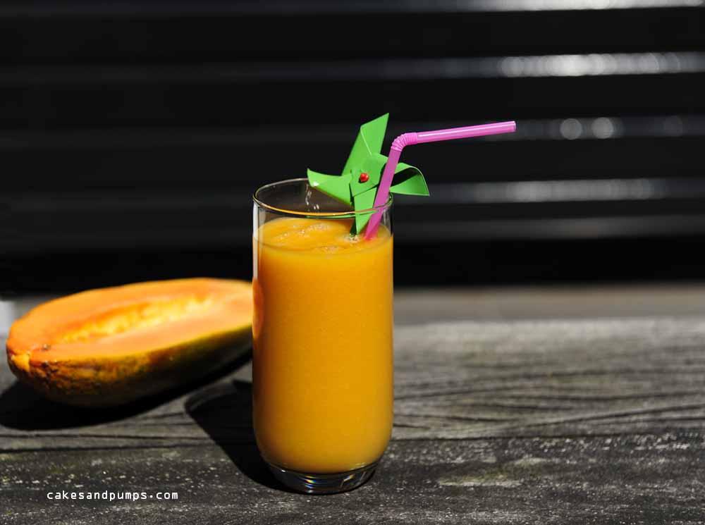 Sunday smoothie met papaya en banaan