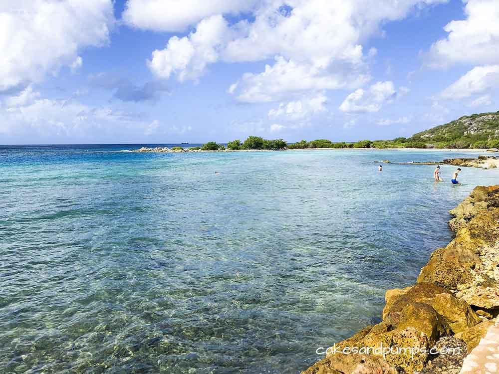 View from Kokos Beach Curacao, cakesandpumps.com