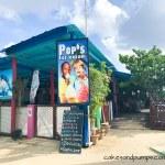 Voorkant Pop's place Curacao, review op cakesandpumps.com