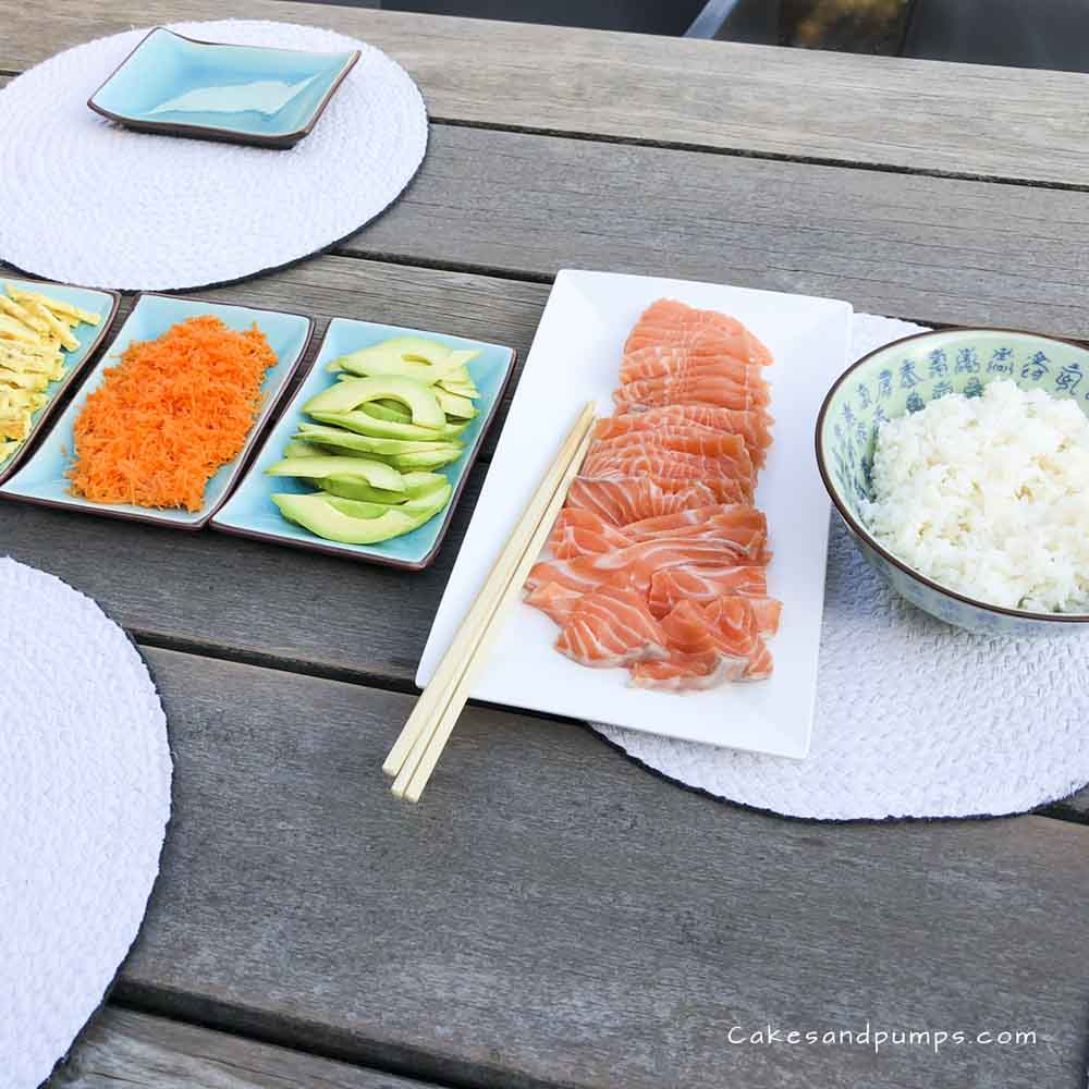 Making Sushi in a simple way, cakesandpumps.com