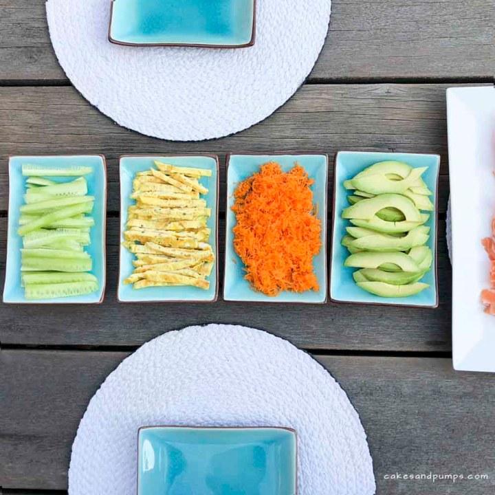 Zelf Sushi maken - de vul ingredienten, cakesandpumps.com