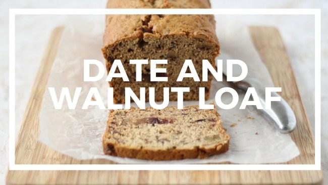 Date and walnut loaf recipe