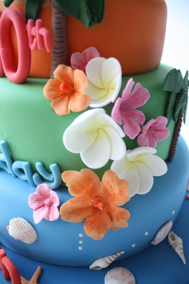 80th Hawaiian birthday cake