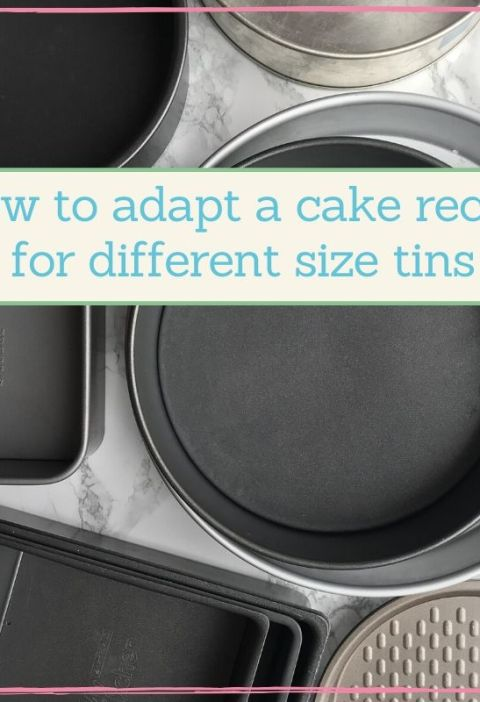 measuring cake tins for different size cakes