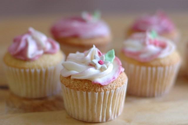 Raspberry Vanilla Swirl Cupcakes